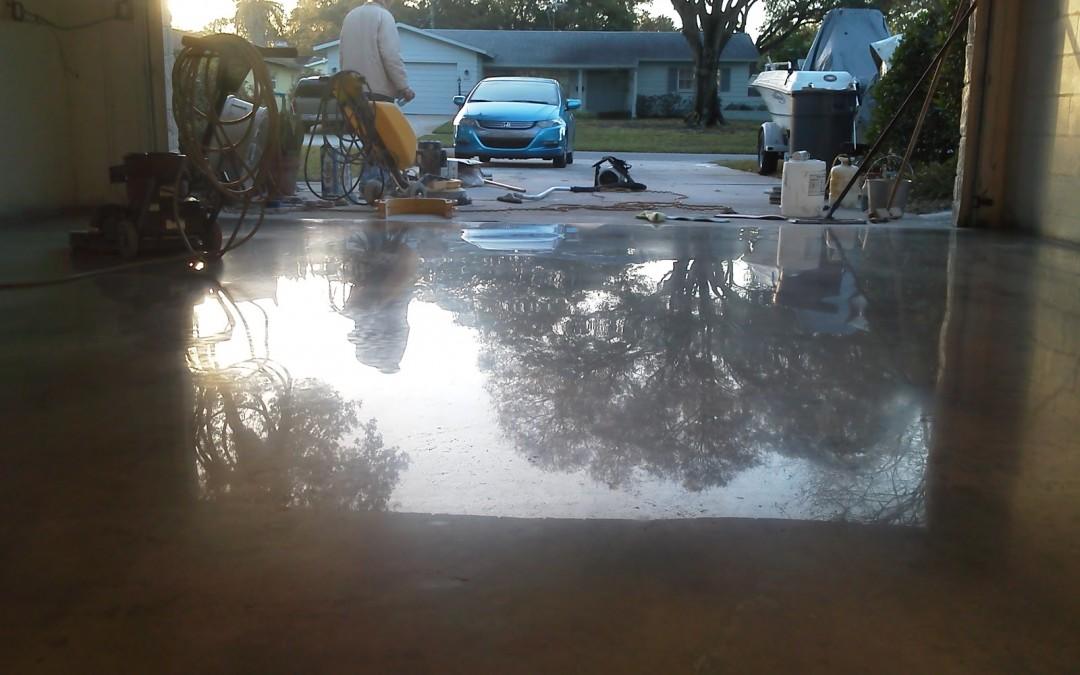 St. Petersburg Garage Concrete Floor Restoration and Polishing