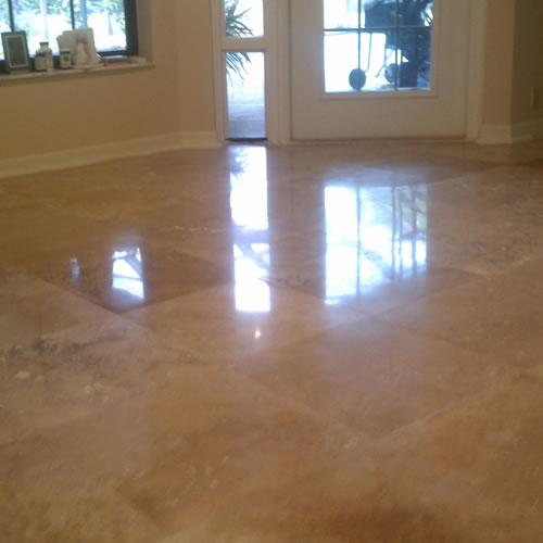 Marble Floor Sanding : Travertine floor polishing cleaning