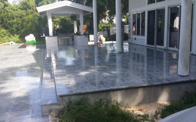 Exterior Marble Cleaning and Sealing with Drytreat StainProof