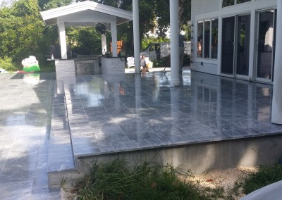 Exterior Marble Cleaning and Sealing with Drytreat StainProof and Color Encahncer