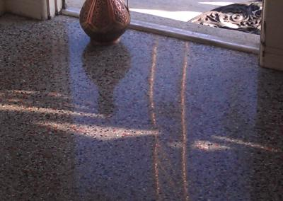 Clean and polish Terrazzo Floors