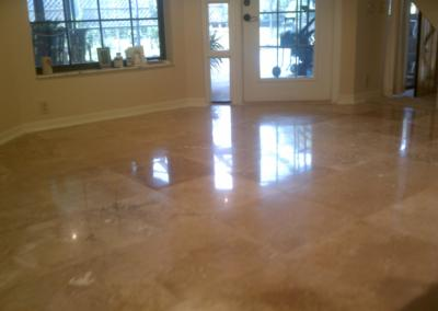 Clearwater Travertine Leveling and Polishing - Tom Workman