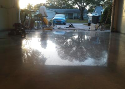 Garage Concrete Floor Polishing and Sealing