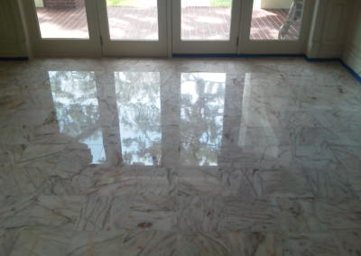 Leveled,Polishied and Regrouted Marble Floor - Tom Workman