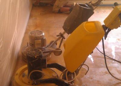 Marble Leveling Equipment used by Floor Cleaning Experts - Tom Workman